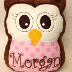 "Personalized Monogrammed Plush Owl ""Reading Buddy"" Pilllow on Lish, $24.95"