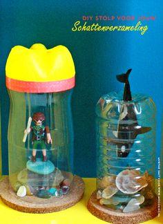 diy stolp, plastic stolp, schattenverzameling, voor kleine schatten