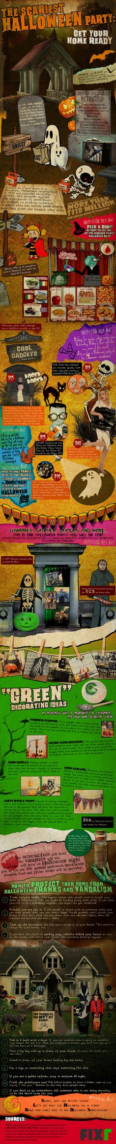 the scariest halloween party httpwwwcoolinfoimagescominfographics - Crazy Halloween Facts