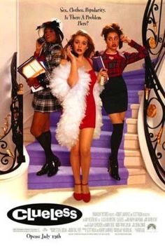 CLUELESS -1995- orig D/S 27x40 movie poster -ALICIA SILVERSTONE, BRITTANY MURPHY