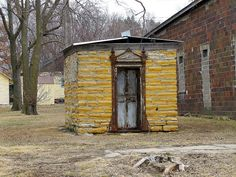 The old stone jail in Cuba, Kansas