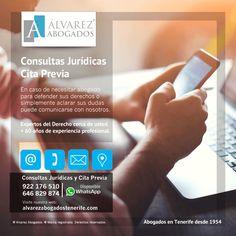 Consultas Jurídicas y Cita Previa. Teléfonos: 922176510 / 646829874 (disponible WhatsApp). Consultas Online: https://alvarezabogadostenerife.com/contacto/
