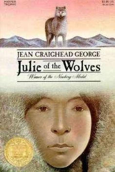 While running away from home and an unwanted marriage, a thirteen-year-old Eskimo girl becomes lost on the North Slope of Alaska and is befriended by a wolf pack. - See more at: http://ssf.bibliocommons.com/item/show/1068966076_julie_of_the_wolves#sthash.W07EeP36.dpuf