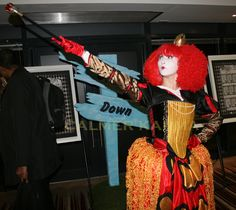 Red Queen lookalike and MC available as walkabout mix and mingle interactive character for all Alice in Wonderland themed corporate events, weddings and private parties. Alice In Wonderland Party, Walkabout, Red Queen, Through The Looking Glass, Look Alike, Queen Of Hearts, Corporate Events, Parties, Entertainment