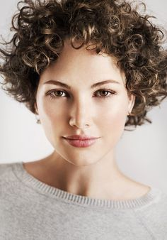 Stock Photo : Beauty portrait of curly brunette woman Layered Curly Haircuts, Short Layered Curly Hair, Short Silver Hair, Short Curly Hairstyles For Women, Mom Hairstyles, Curly Hair Cuts, Curled Hairstyles, Short Hair Cuts, Short Hair Styles