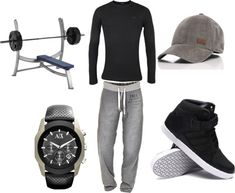 """After Gym Outfit for Men"" by mbaileydesigns on Polyvore"