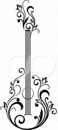 henna guitar idea or t-shirt paint fabric marker