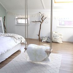 Beautiful And Stylish Indoor Swing Chair For Bedroom Here are some of the best indoor swing chair for bedroom that you can check out and also you can consider getting any of them into your bedroom. - Beautiful And Stylish Indoor Swing Chair For Bedroom Swing Chair For Bedroom, Swinging Chair, Kids Bedroom Chairs, Chair Swing, Rocking Chair, Swing Indoor, Indoor Outdoor, Bedroom Furniture, Bedroom Decor