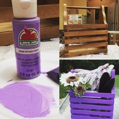 It's #diysaturday and we've got a new project just for you! All you need is a unique crate from our family stores, gardening tools, and paint! #GardenBasketToGo