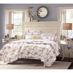 Shabby Chic Vintage Rose 3-piece Cotton Quilt Set - Overstock™ Shopping - Great Deals on Quilts