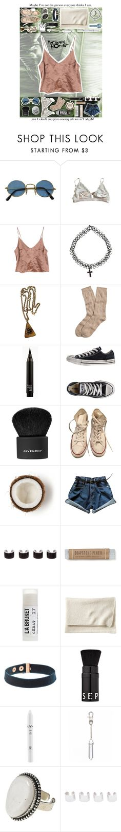 """""""//-5001"""" by pssycho-younicorns ❤ liked on Polyvore featuring beauty, STELLA McCARTNEY, Trifari, Brooks Brothers, Converse, Givenchy, Stila, Maison Margiela, Toast and Serena & Lily"""