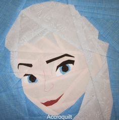 Fandom In Stitches: Elsa from Frozen, designed by Michelle. A free paper pieced pattern!