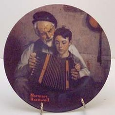 The Music Maker collector plate by Norman Rockwell Norman Rockwell Paintings, Plate, Display, Unique, Music, Collection, Art, Floor Space, Musica