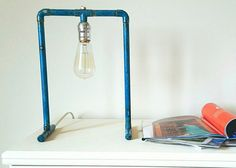 Hey, I found this really awesome Etsy listing at https://www.etsy.com/listing/385640076/copper-studio-lamp-with-blue-patina-and