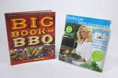 2 Grilling Cookbooks Sandra Lee Semi-Homemade & Big Book Of BBQ Southern Living