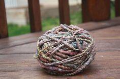 Variegated Mauve Overspun Handspun Wool Yarn $26 Kimberly Handspun Handwoven SHOP www.nywhitestonefarm.com #handmade #handspun  #handdyed #yarn #wool #knit #crochet #farm #gift #dyi #purple #overspun
