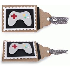 Silhouette Design Store - View Design #77390: layered game controller gift card tag