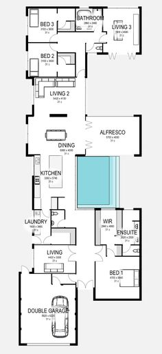 Floor Plan Friday: Modern home with feature pool & alfresco