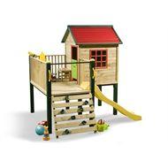 Swing Slide Climb Shangri La Multiplay Timber Playhouse from Bunnings Warehouse at Crossroads Homemaker Centre