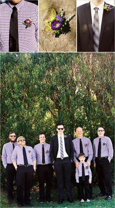 purple groomsmen outfits