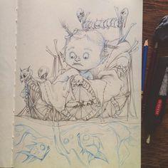 #warcraft #fanart #babyinthebasket #durotan #draka #frostwolfclan #orc #orcbaby #babymoses #sketchbook #drawing #hordeclan #babyontheriver #warrior #bones #piranha #lostking #drakassister #warcraftmovie