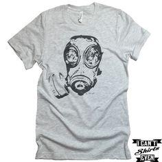 Gas Mask Unisex T-shirt. Crew Neck Tee. Shirt personalized gift.