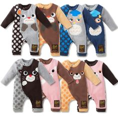 Animal Fleece-Lined Coveralls - Baby Clothes - nissen Global - online store for clothing
