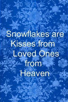 As I sit with part of my family today, I can't help but miss my best friend and little cousin. At first I thought that it's not fair that they aren't here to spend Christmas with us. But as I watch the snow fall, I remember what Jake told me last night. I know they aren't physically here, but they are here in my heart. And as I continue to watch the snow fall, I can't help but think that they're sending me Christmas hugs and kisses, helping me remember what Christmas is all about ❤️