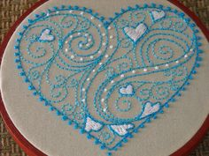 heart doodle embroidery