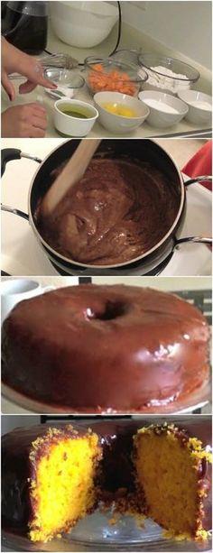 BOLO DE CENOURA FÁCIL E DELICIOSO…FAÇA E DEIXE SUA FAMILIA FELIZ!! VEJA AQUI>>>No liquidificador, bata primeiro a cenoura com os ovos e o óleo; Acrescente o #receita#bolo#torta#doce#sobremesa#aniversario#pudim#mousse#pave#Cheesecake#chocolate#confeitaria