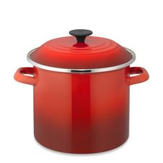 I have a short iron enamel red pot...A taller one would be great for big chili nights.
