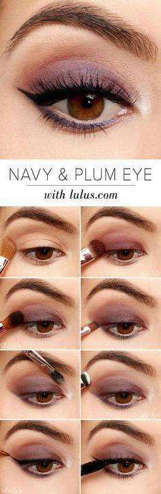 Lulus: Navy & Plum Eye