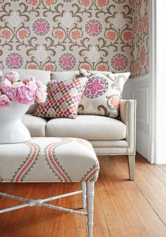 Thibaut Fine Furniture, Fabrics and wall paper from the Caravan Collection!