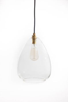 Jules large clear glass pendant