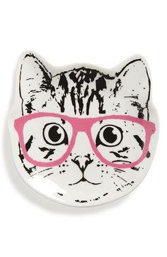 Tri-Coastal Design 'Cat Glasses' Ceramic Trinket Tray available at #Nordstrom