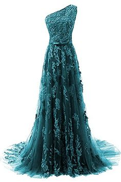 HEIMO Women's One Shoulder Evening Party Gowns Lace Appliques Formal Prom Dresses Long H107 2 Teal Dazz24 http://dazz24.com/product/heimo-womens-one-shoulder-evening-party-gowns-lace-appliques-formal-prom-dresses-long-h107-2-teal/  Price: & FREE Shipping  #cocktaildresses