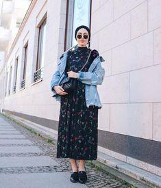 How to Style Hijab With Boho Looks – Hijab Fashion Hijab Fashion Summer, Modern Hijab Fashion, Street Hijab Fashion, Muslim Fashion, Modest Fashion, Hijab Casual, Hijab Chic, Modest Dresses, Modest Outfits