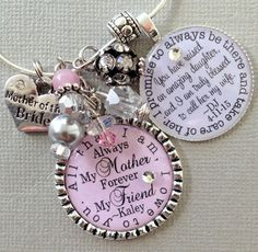 MOTHER of the BRIDE gift, all that I am I owe to you, I promise to always be there, wedding date, PERSONALIZED keychain all by buttonit