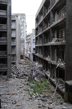 Battleship Island: Japan's rotting metropolis    Abandoned after the collapse of coal mining in 1974, this island is full of abandoned high rises.