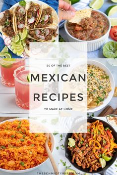 Best Mexican Recipes, Favorite Recipes, Ethnic Recipes, Homemade Tortillas, Mexican Dishes, Meals, Dinners, Food Dishes, Margaritas