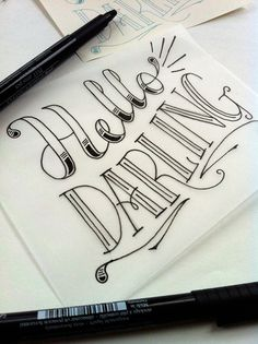Pretty hand lettering doodlings hand lettering, lettering e Lettering Tutorial, Font Hand Lettering, Doodle Lettering, Creative Lettering, Calligraphy Letters, Typography Letters, Brush Lettering, Lettering Design, Caligraphy