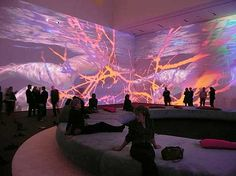 """Projections. """"Pour Your Body Out (7354 Cubic Meters"""". Moma, NY. 2008. Artist: Pippilotti Rist."""