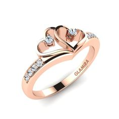 An rose gold engagement rings is bought once in a lifetime, so it is very unique and special for the buyer and the receiver. Luxury Engagement Rings, Engagement Rings Couple, Round Diamond Engagement Rings, Couple Rings Gold, Gold Rings Jewelry, Heart Jewelry, Jewellery, Couple Ring Design, Gold Ring Designs