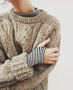 Cableknit and stripes