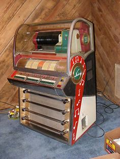 1950's Seeburg V 200 Coin Operated Jukebox 45rpm Record Player Gameroom Works  