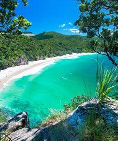 Best beaches in New Zealand. This photo: New Chums Beach, Coromandel Peninsula