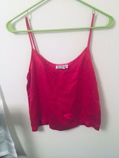 68d0f941e8b Details about Royal Silk 100% Silk Spaghetti Strap Tank Top Size Small  Fuschia MSRP  39