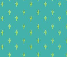 Valentine Homegrown Love Cactus fabric by twoifbyseastudios on Spoonflower - custom fabric