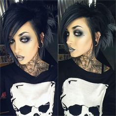 Wow look At that makeup.