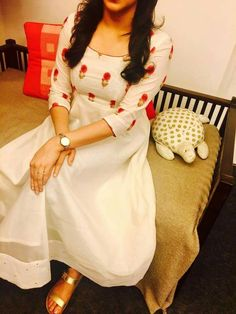 How can I buy this what is the price Salwar Neck Designs, Churidar Designs, Kurta Designs Women, Dress Neck Designs, Designs For Dresses, Blouse Designs, Sleeve Designs, Indian Designer Outfits, Indian Outfits